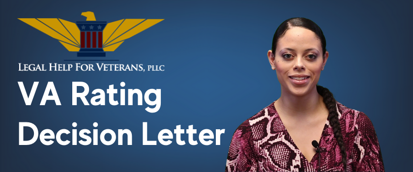 VA Rating Decision Letter Explained with Intake Coordinator Ariel