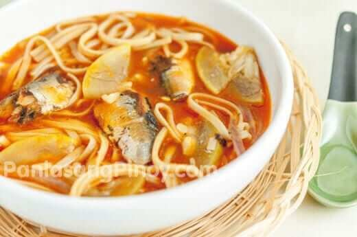 odong noodles with sardines recipe