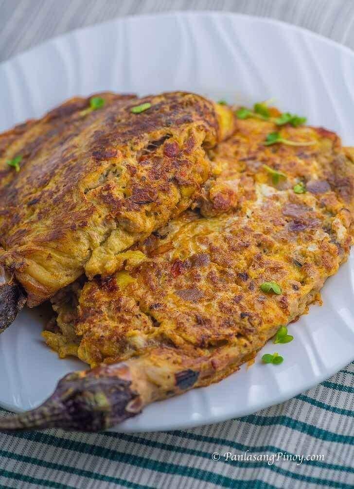 Tortang Talong with Ground Pork Recipe