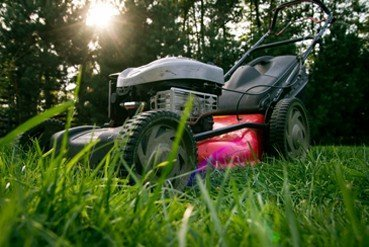 Lawn Mower front shot in grass