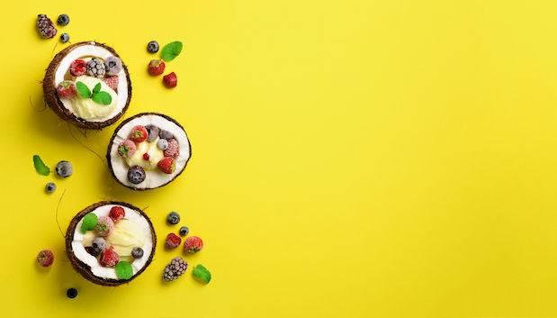Reusable coconut bowls