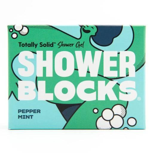 Peppermint shower blocks packaging