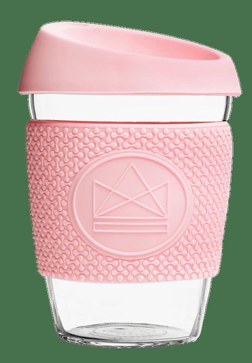 Neon Kactus Coffee Cup Glass Coffee Cups - 12oz Pink Coffee Cup