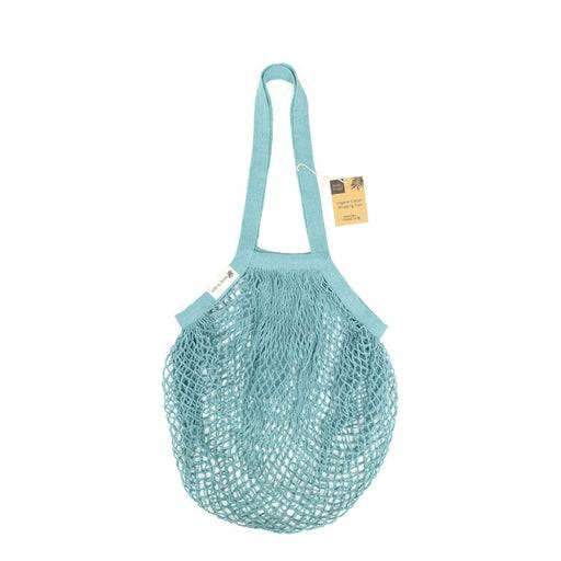 Wild & Stone Tote Bag Organic Cotton Tote Bag - Blue Crochet