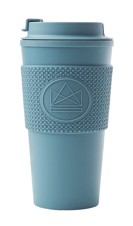 Neon Kactus Coffee Cup Double Walled Coffee Cups - Pastel Blue Travel Mug