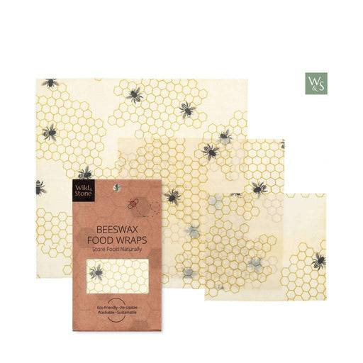 Wild & Stone Food Wraps Beeswax Food Wraps - HoneyComb Pattern laid out of packaging