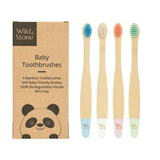 Wild & Stone Toothbrush Baby Extra Soft Bristles Bamboo Toothbrush out of packaging