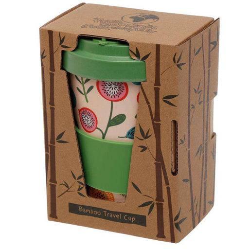 Zero Zen Reusable Bamboo Composite Travel Mug - Autumn Falls in packaging BAMB68