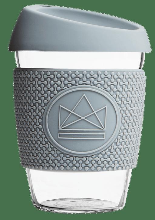 Neon Kactus Coffee Cup Glass Coffee Cups - 12oz Grey Coffee Cup