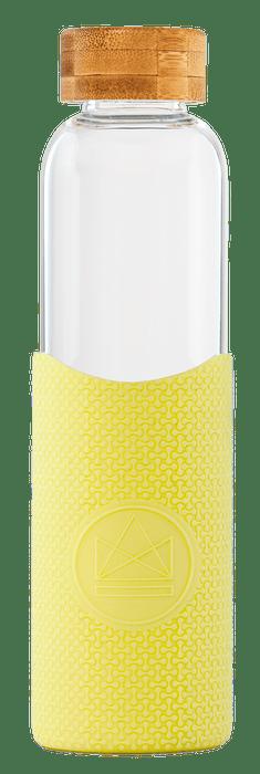 Neon Kactus Coffee Cup Glass Water Bottle - Yellow - 16oz Water Bottle