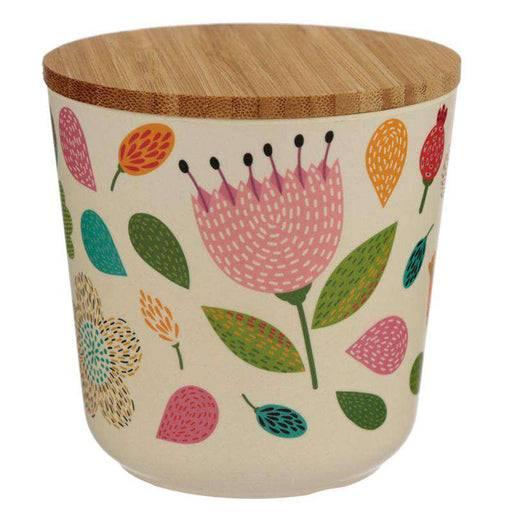 Bamboo Composite Small Round Storage Box - Autumn Falls