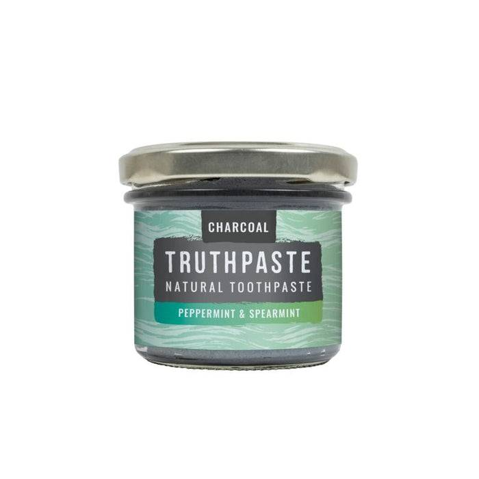 Truthpaste Toothpaste Natural Toothpaste Charcoal Peppermint & Spearmint 120G - Truthpaste