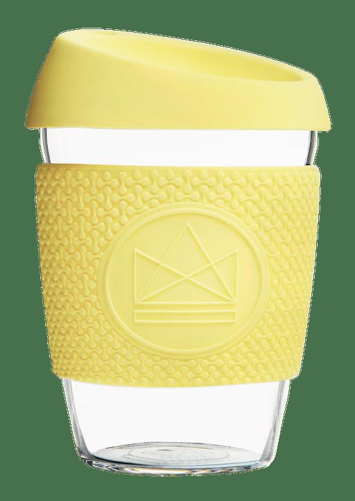 Neon Kactus Coffee Cup Glass Coffee Cups - 12oz Yellow Coffee Cup