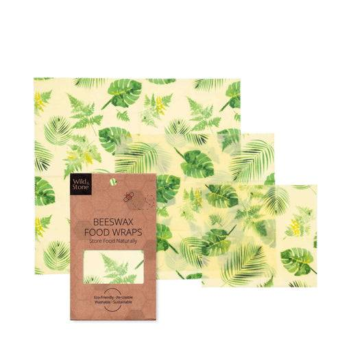 Wild & Stone Food Wraps Beeswax Food Wraps - Botanical Pattern laid out