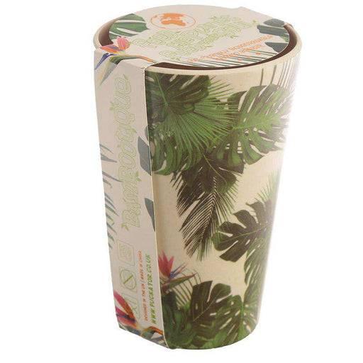 Zero Zen Reusable Bamboo Composite Cup -Tropical Design BAMB22 with label