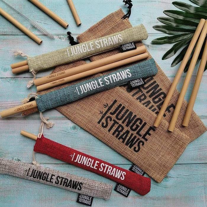 6 Reusable Bamboo Drinking Straws