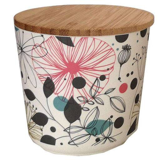 Bamboo Composite Small Round Storage Jar - Wisewood