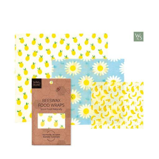Wild & Stone Food Wraps Beeswax Food Wraps - Fruit Pattern laid out