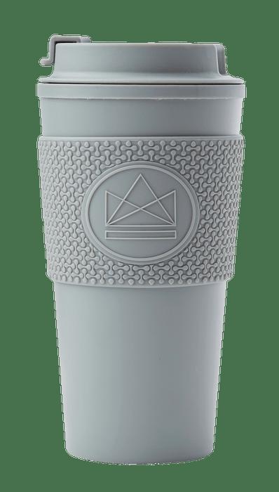 Neon Kactus Coffee Cup Double Walled Coffee Cups - Grey Travel Mug