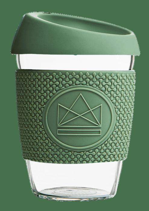 Neon Kactus Coffee Cup Glass Coffee Cups - 12oz Olive Green Coffee Cup