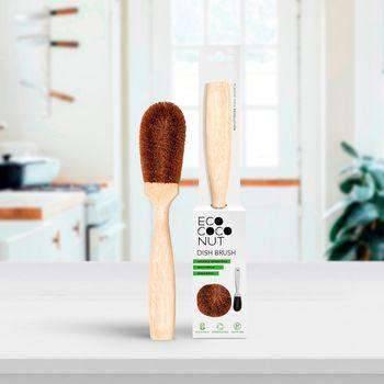 Eco Living Dish Brush Coconut Dish Brush - Vegan & Biodegradable Dish Brush in kitchen