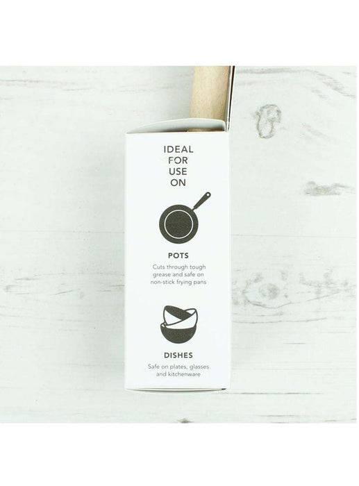 Eco Living Dish Brush Coconut Dish Brush - Vegan & Biodegradable Dish Brush in packaging