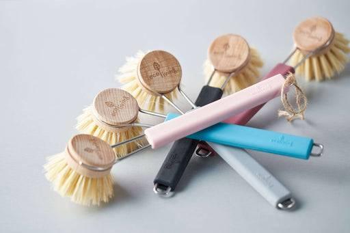 Eco Living Dish Brush Dish Brush Natural Plant Bristles multiple colours