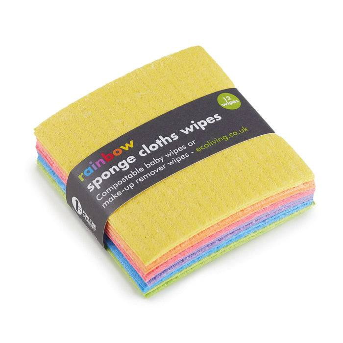 Eco Living Small Wipes Small Make-Up Wipes - Baby Cloth Wipes 5060636880921 EL-CSCW-RAIN laid flat