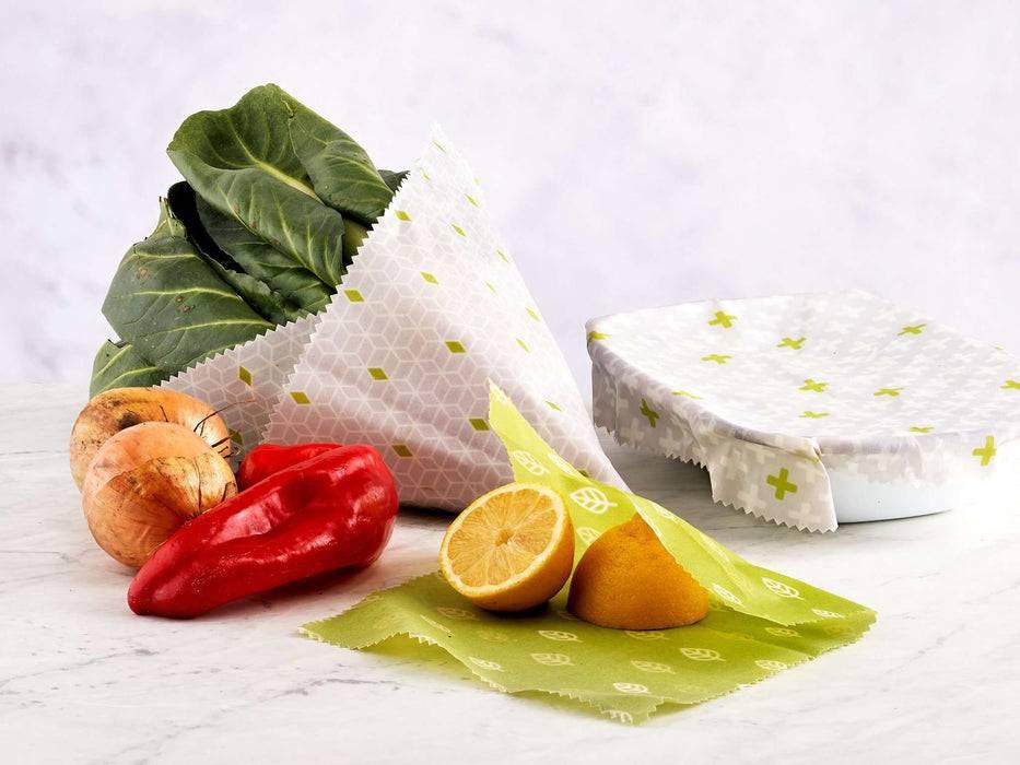 Eco Living Vegan Food Wraps Pack of 3 Vegan Food Wraps 5060636880532 EL-VFW-3 used with food