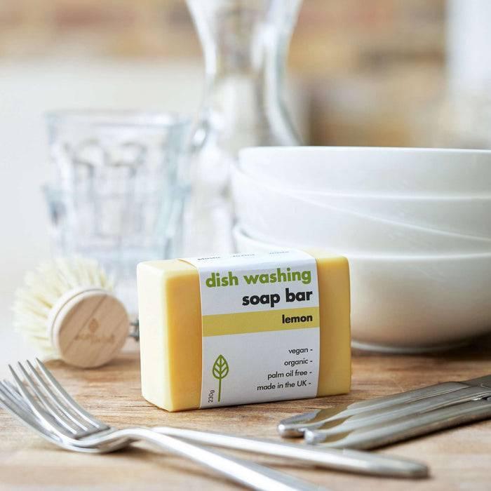 Eco Living Washing-Up Soap Bar Lemon Washing-Up Soap Bar 5060636880761 EL-LEMON-155
