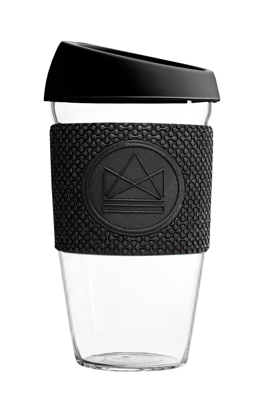 Neon Kactus Coffee Cup Glass Coffee Cups - Black 16oz Coffee Cup