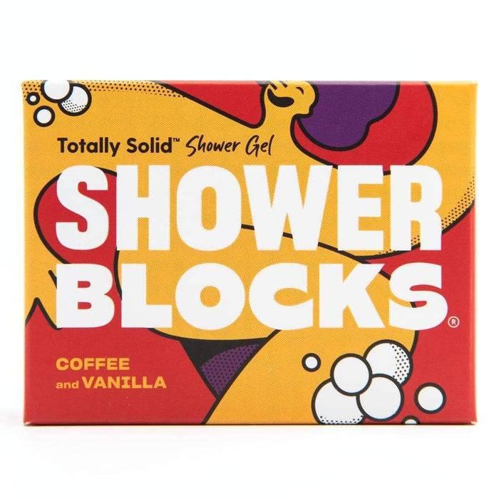Shower blocks coffee & vanilla packaging
