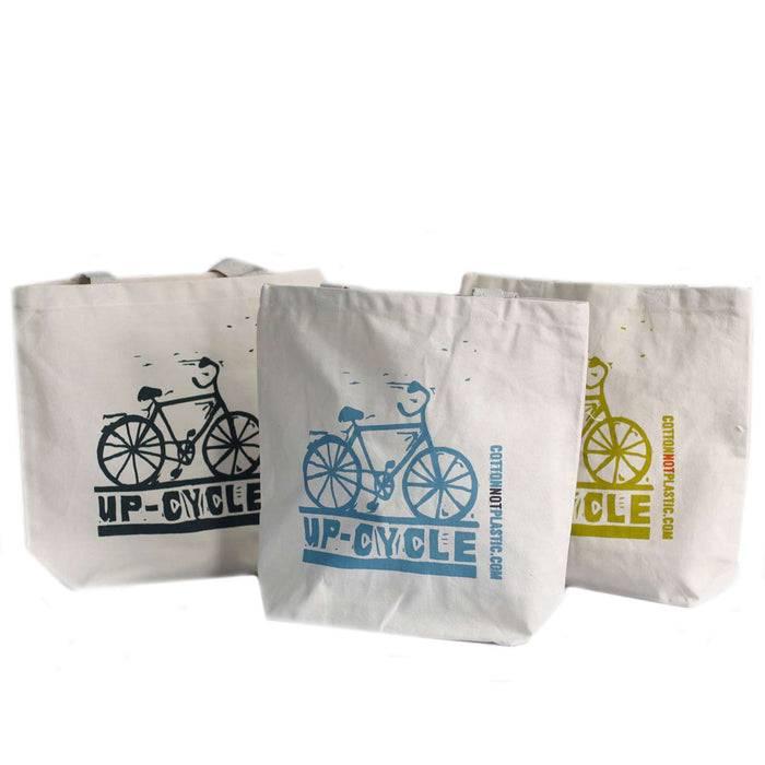 Zero Zen Eco bags Eco Cotton Bags - Up Cycle different colour designs