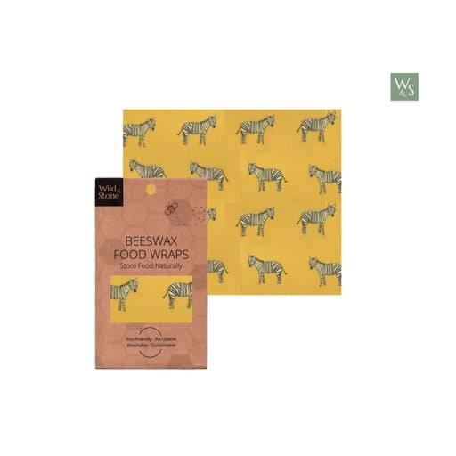 Wild & Stone Food Wraps Beeswax Food Wrap - Zebra Pattern - Single Medium Size