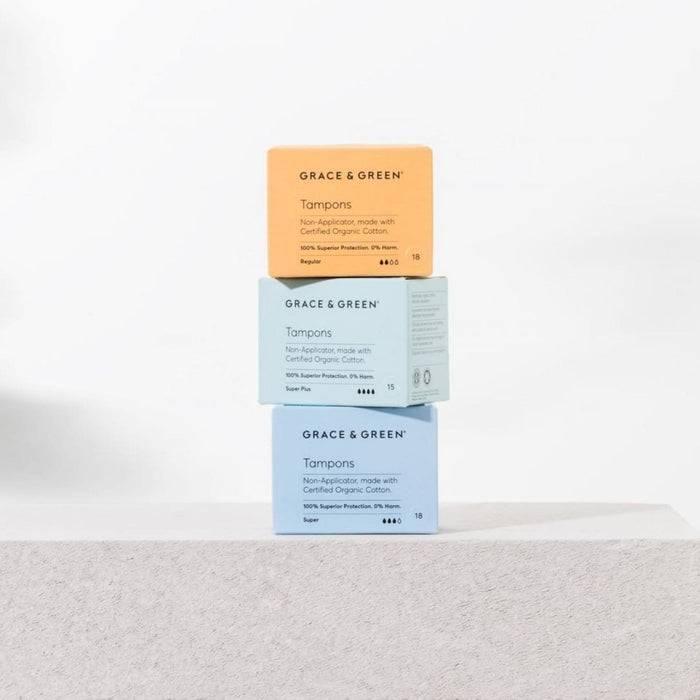 Organic Cotton Non-Applicator Tampons