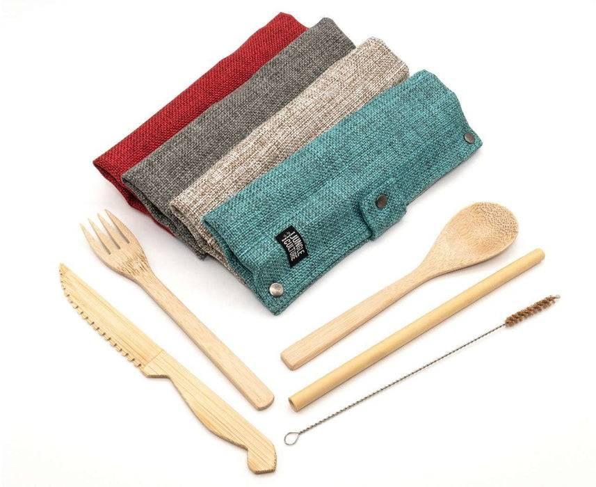 Jungle Culture Cutlery Set Bamboo Cutlery Set mutli-coloured cases