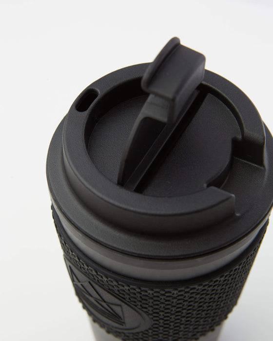 Neon Kactus Coffee Cup Double Walled Coffee Cups - Black Travel Mug top view