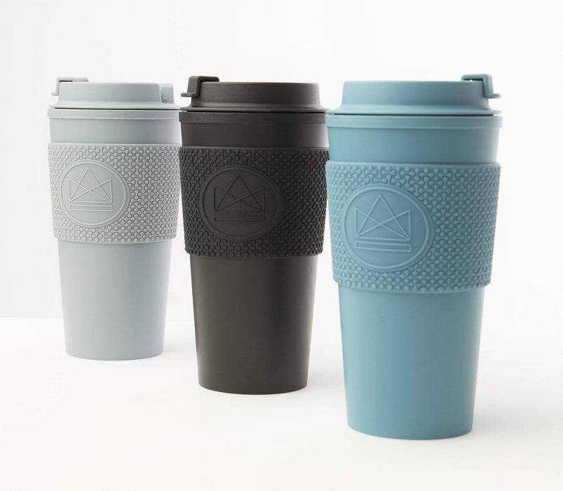 Neon Kactus Coffee Cup Double Walled Coffee Cups - Pastel Blue Travel Mug multiple colours