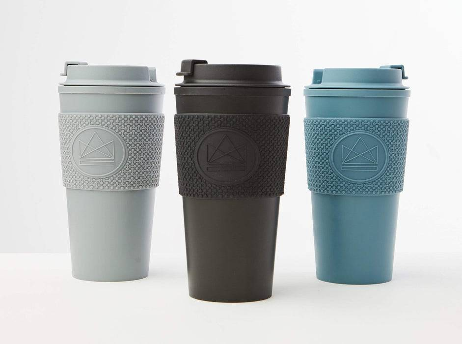 Neon Kactus Coffee Cup Double Walled Coffee Cups - Pastel Blue Travel Mug multiple colours lined up