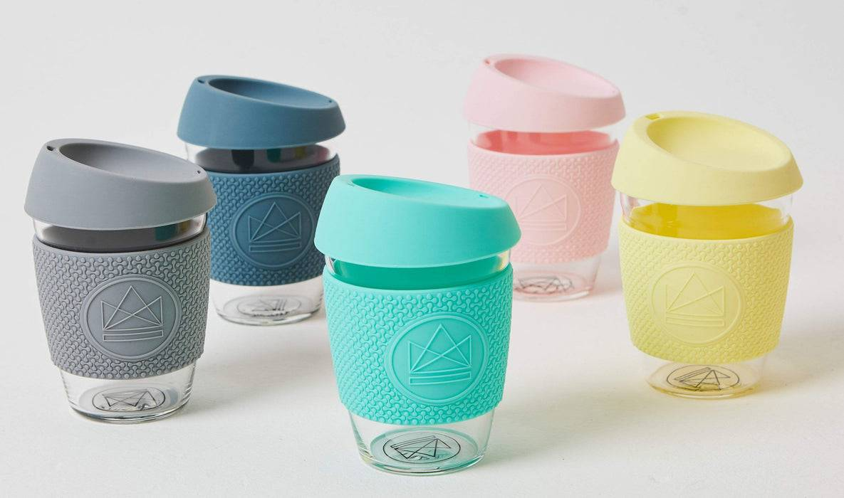 Neon Kactus Coffee Cup Glass Coffee Cups - 12oz Yellow Coffee Cup organized colour varients