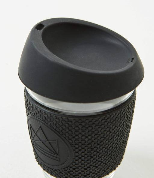 Neon Kactus Coffee Cup Glass Coffee Cups - Black 16oz Coffee Cup different angle