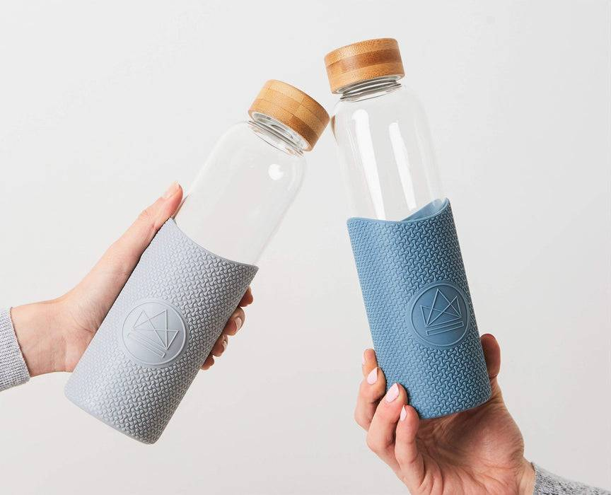 Neon Kactus Coffee Cup Glass Water Bottle - Pastel Blue - 16oz Water Bottle different colours