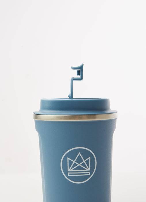 Neon Kactus Coffee Cup Stainless Steel Coffee Cups - Pastel Blue - 12oz Travel Mug