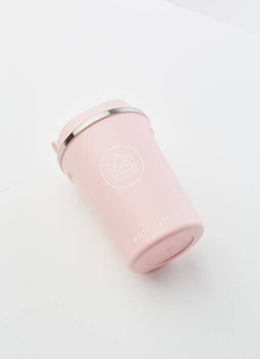 Neon Kactus Coffee Cup Stainless Steel Coffee Cups - Pink - 12oz Travel Mug