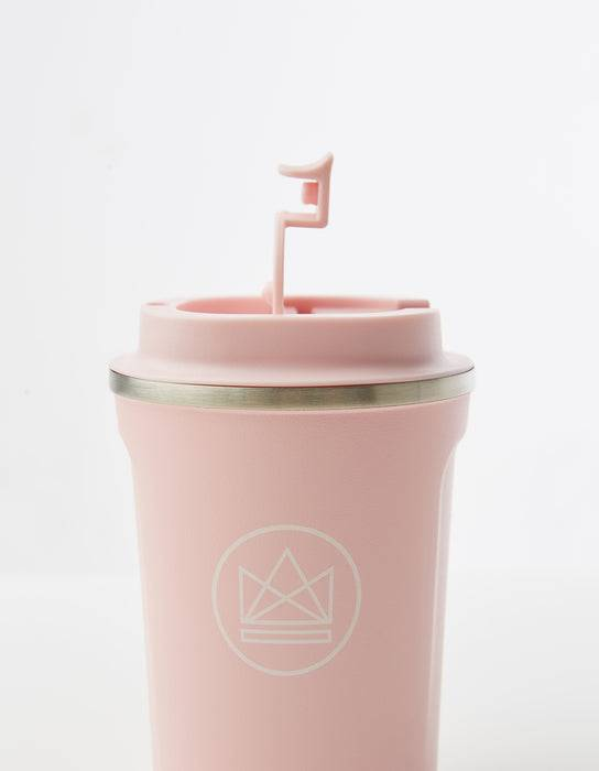 Neon Kactus Coffee Cup Stainless Steel Coffee Cups - Pink - 12oz Travel Mug