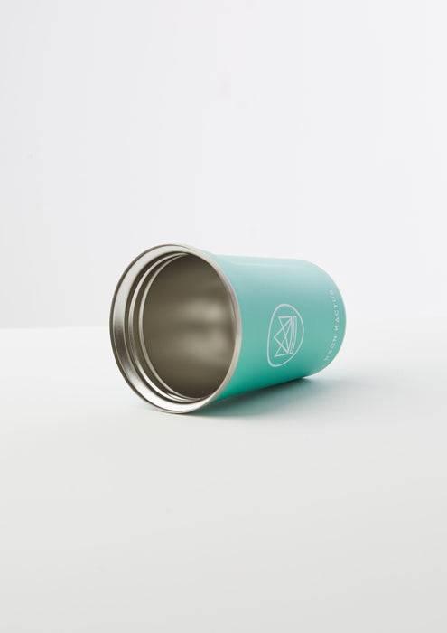 Neon Kactus Coffee Cup Stainless Steel Coffee Cups - Turquoise - 12oz Travel Mug