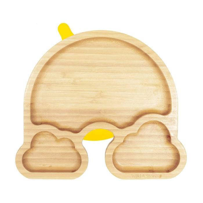 Baby Weaning Plate - Bamboo - Rainbow Design