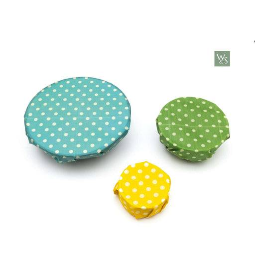 Wild & Stone Beeswax Food Wraps Beeswax Food Wraps - Polka Dot Pattern used on bowls