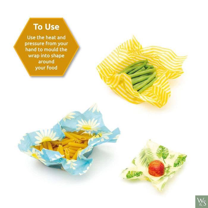 Wild & Stone Food Wraps Beeswax Food Wrap - Zebra Pattern - Single Medium Size used with food