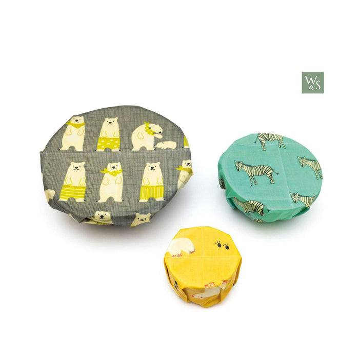 Wild & Stone Food Wraps Beeswax Food Wraps - Animal Pattern covering bowl